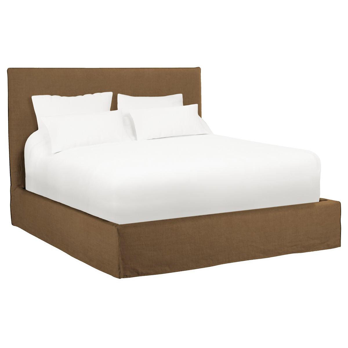 Velvesuede Camel Langston Bed Furniture