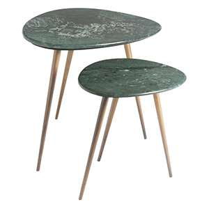 Soma Evergreen Side Tables/Set of 2