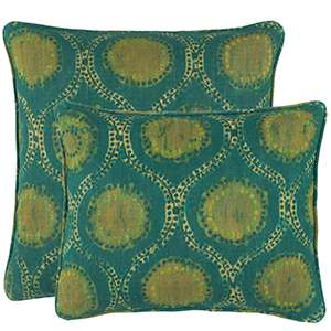 Willowleaf Linen Green Decorative Pillow