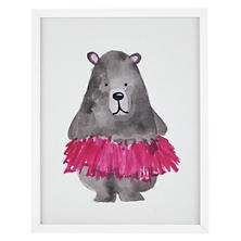 Ballerina Bear  Wall Art