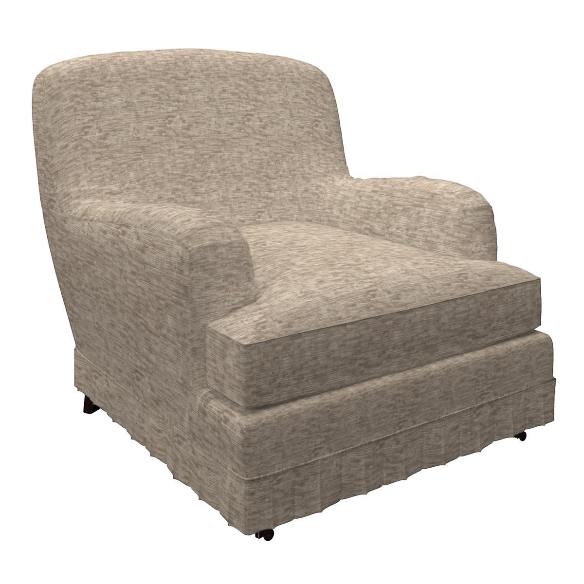 Bark Velvet Stone Ellis Chair
