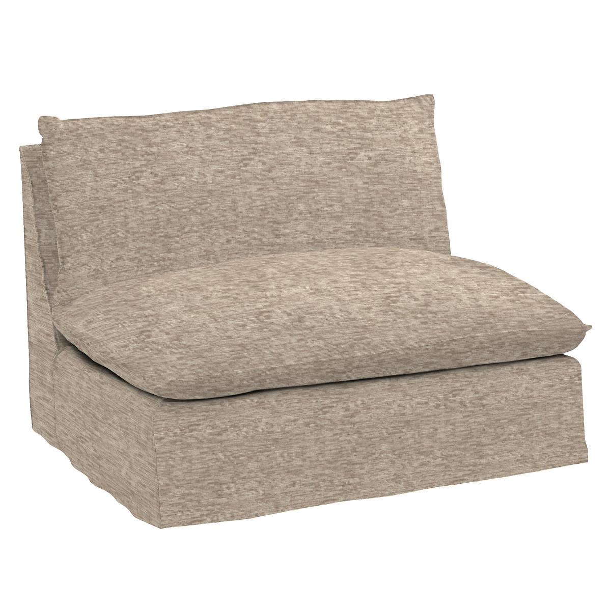 Bark Velvet Stone Hollingsworth Slipcovered Chair