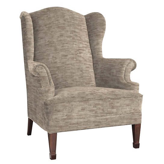 Bark Velvet Stone Lismore Chair