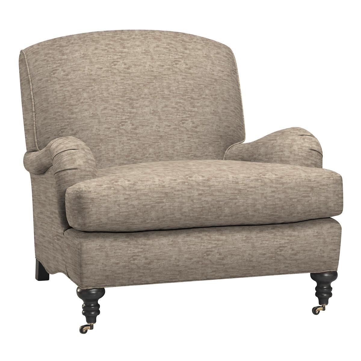 Bark Velvet Stone Litchfield Chair