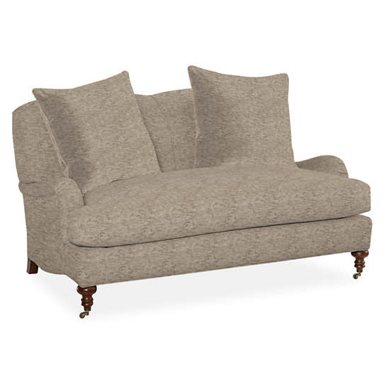 Bark Velvet Stone Litchfield Loveseat