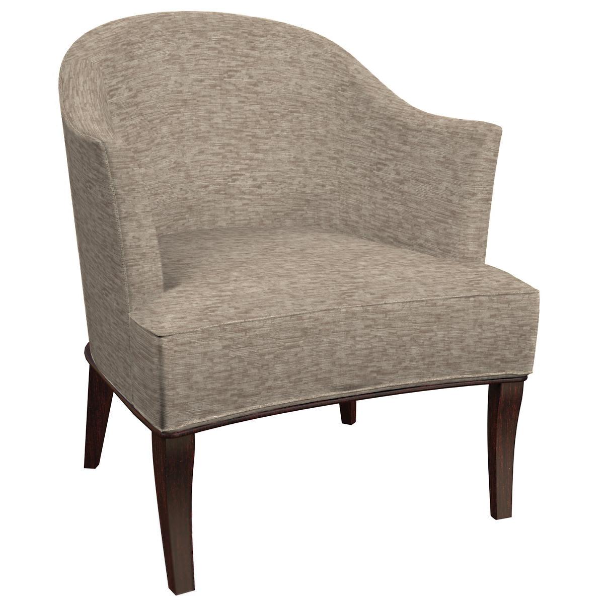 Bark Velvet Stone Lyon Chair