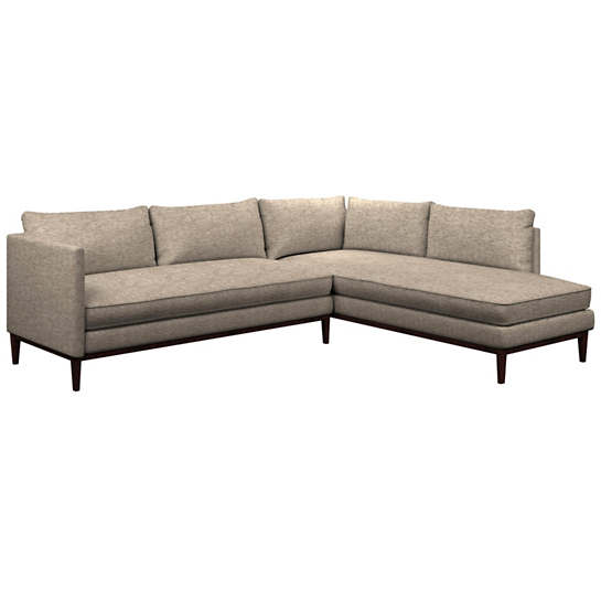 Bark Velvet Stone Paseo Sectional