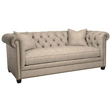 Bark Velvet Stone Richmond Sofa