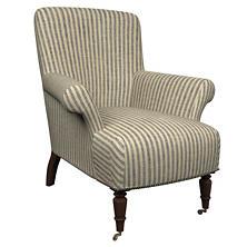 Adams Ticking Navy Barrington Chair