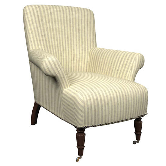 Adams Ticking Grey Barrington Chair