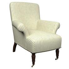Adams Ticking Light Blue Barrington Chair