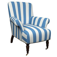 Alex French Blue Barrington Chair