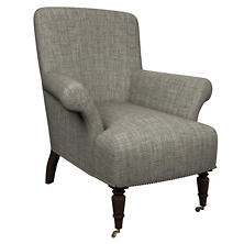 Chevron Indigo Barrington Chair