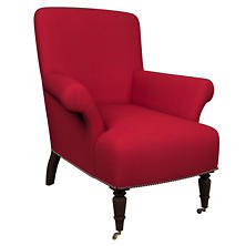 Estate Linen Red Barrington Chair