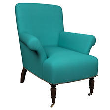 Estate Linen Turquoise Barrington Chair