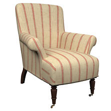 Glendale Stripe Brick/Brown Barrington Chair
