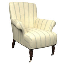Glendale Stripe Light Blue/Natural Barrington Chair