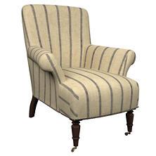 Glendale Stripe Navy/Brown Barrington Chair