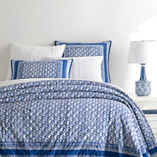 Batik Blue Coverlet