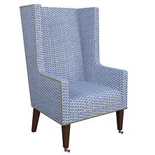 Beads Blue Neo-Wing Chair