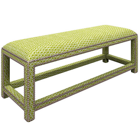 Beads Dark Green Lexington Bench