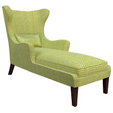 Beads Dark Green Mirage Tobacco Chaise