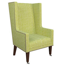 Beads Dark Green Neo-Wing Chair