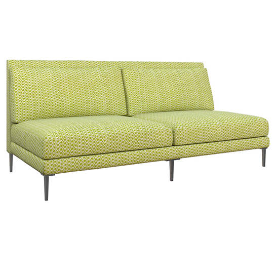 Beads Dark Green Portola Sofa