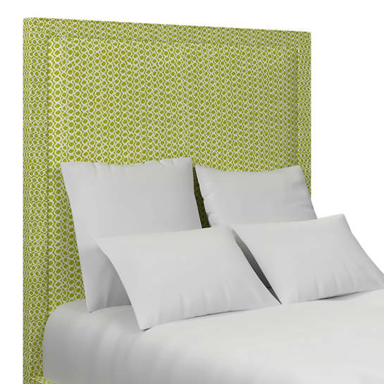 Beads Dark Green Stonington Headboard