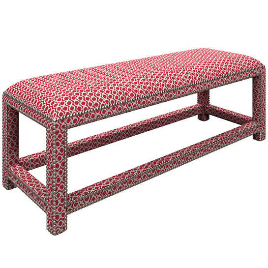 Beads Fuchsia Lexington Bench
