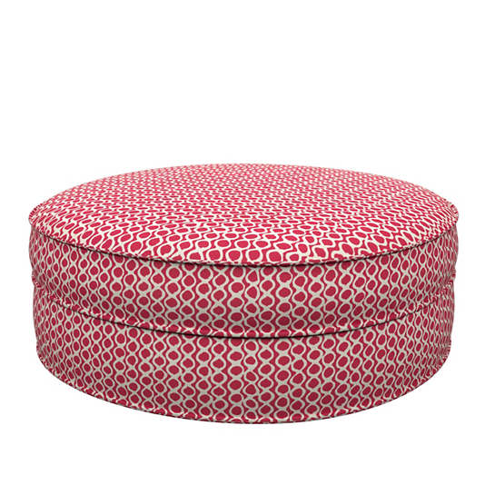 Beads Fuchsia Palm Court Ottoman