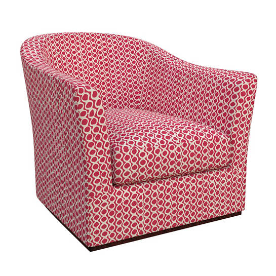 Beads Fuchsia Thunderbird Swivel Chair