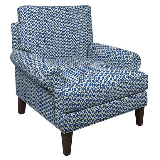 Beads Navy Easton Chair
