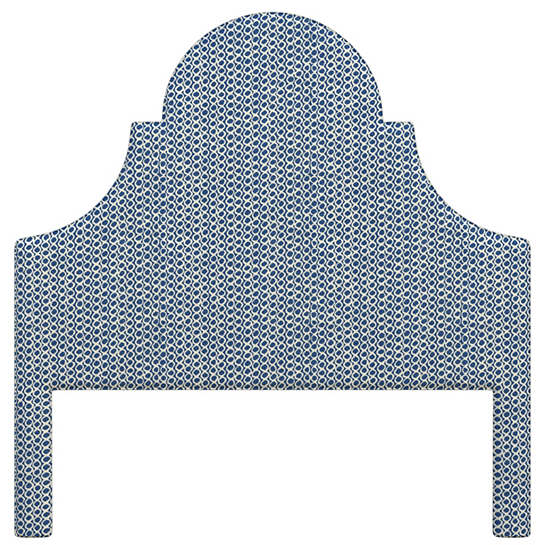Beads Navy Montaigne Headboard