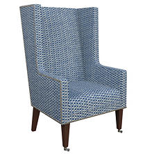 Beads Navy Neo-Wing Chair