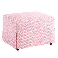 Beads Pink Saybrook Slipcovered Ottoman