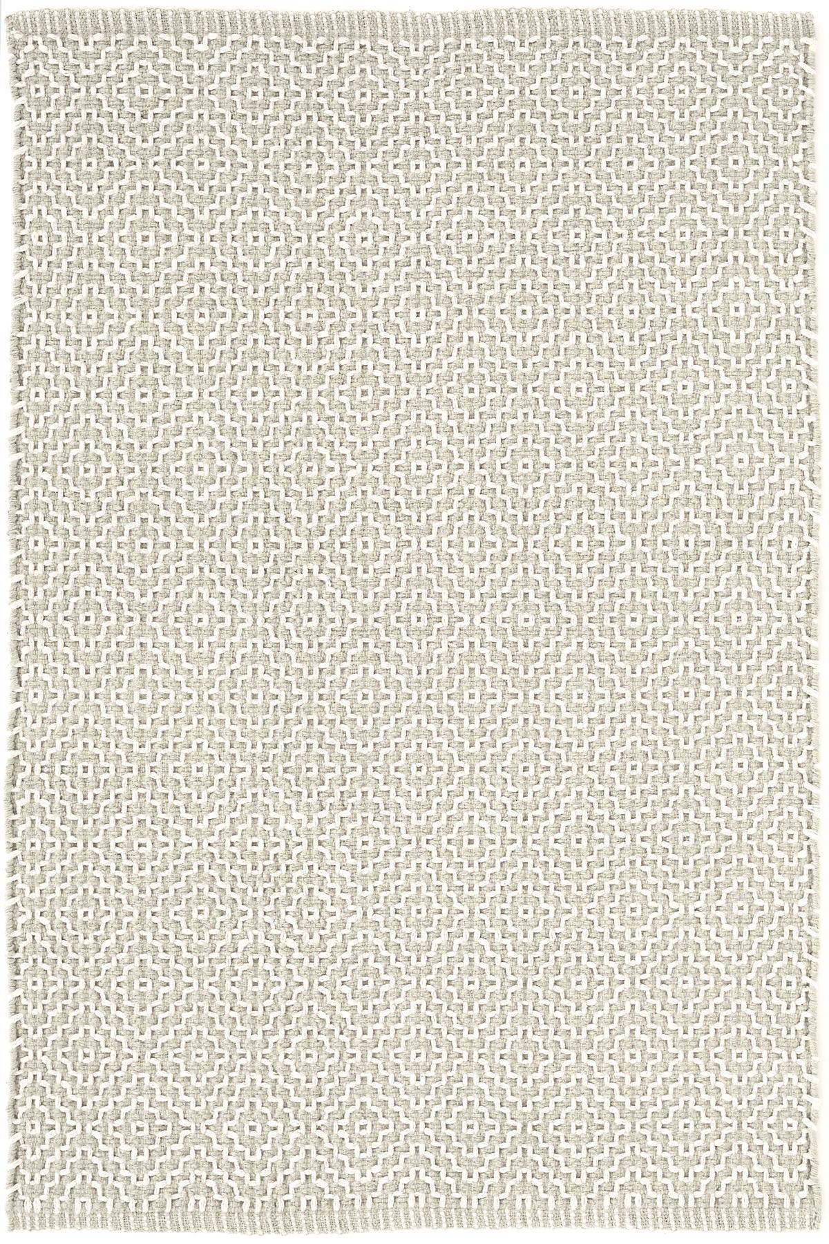 Beatrice Grey Woven Cotton Rug