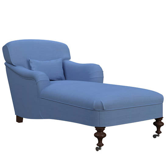 Estate Linen French Blue Beaufort Chaise