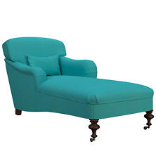 Estate Linen Turquoise Beaufort Chaise