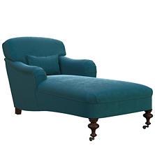 Plush Velvet Sapphire Beaufort Chaise