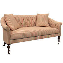 Adams Ticking Brick Becket Loveseat