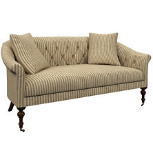 Adams Ticking Brown Becket Loveseat