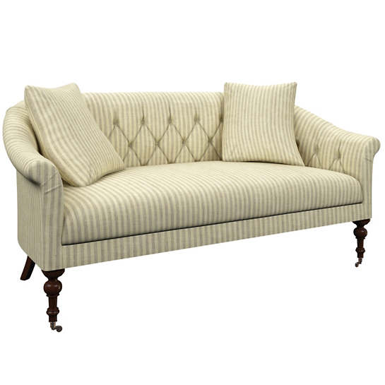 Adams Ticking Grey Becket Loveseat