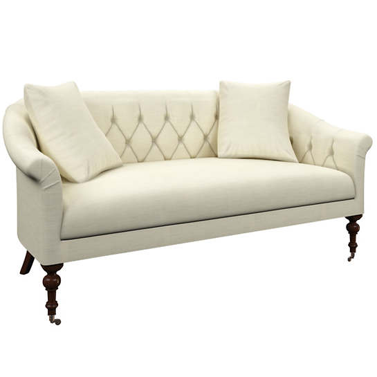 Estate Linen Ivory Becket Loveseat