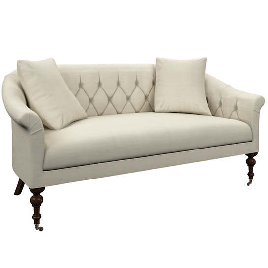 Estate Linen Pearl Grey Becket Loveseat