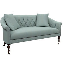 Estate Linen Sky Becket Loveseat