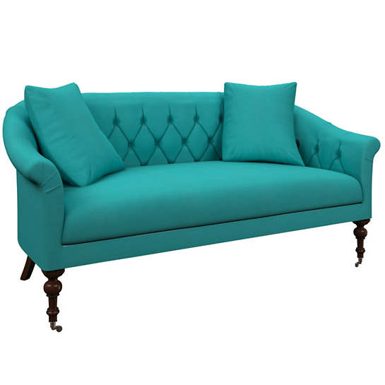 Estate Linen Turquoise Becket Loveseat