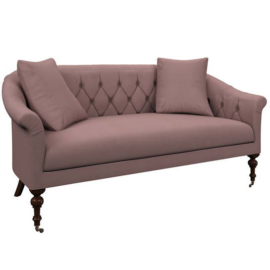 Estate Linen Zinc Becket Loveseat