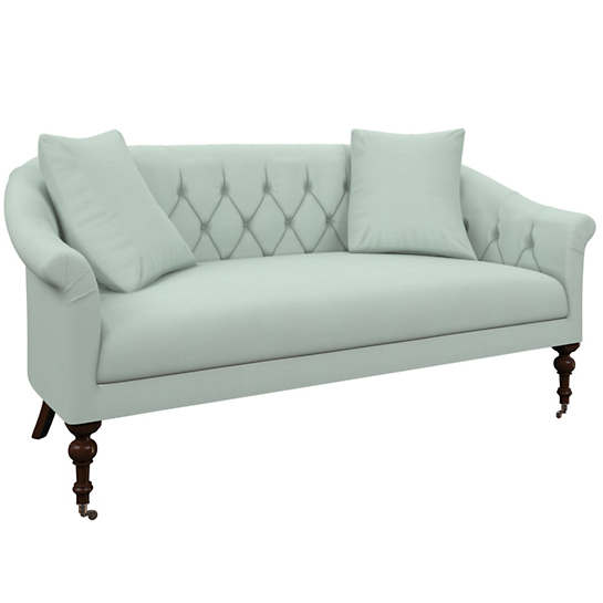 Estate Linen Powder Blue Becket Loveseat