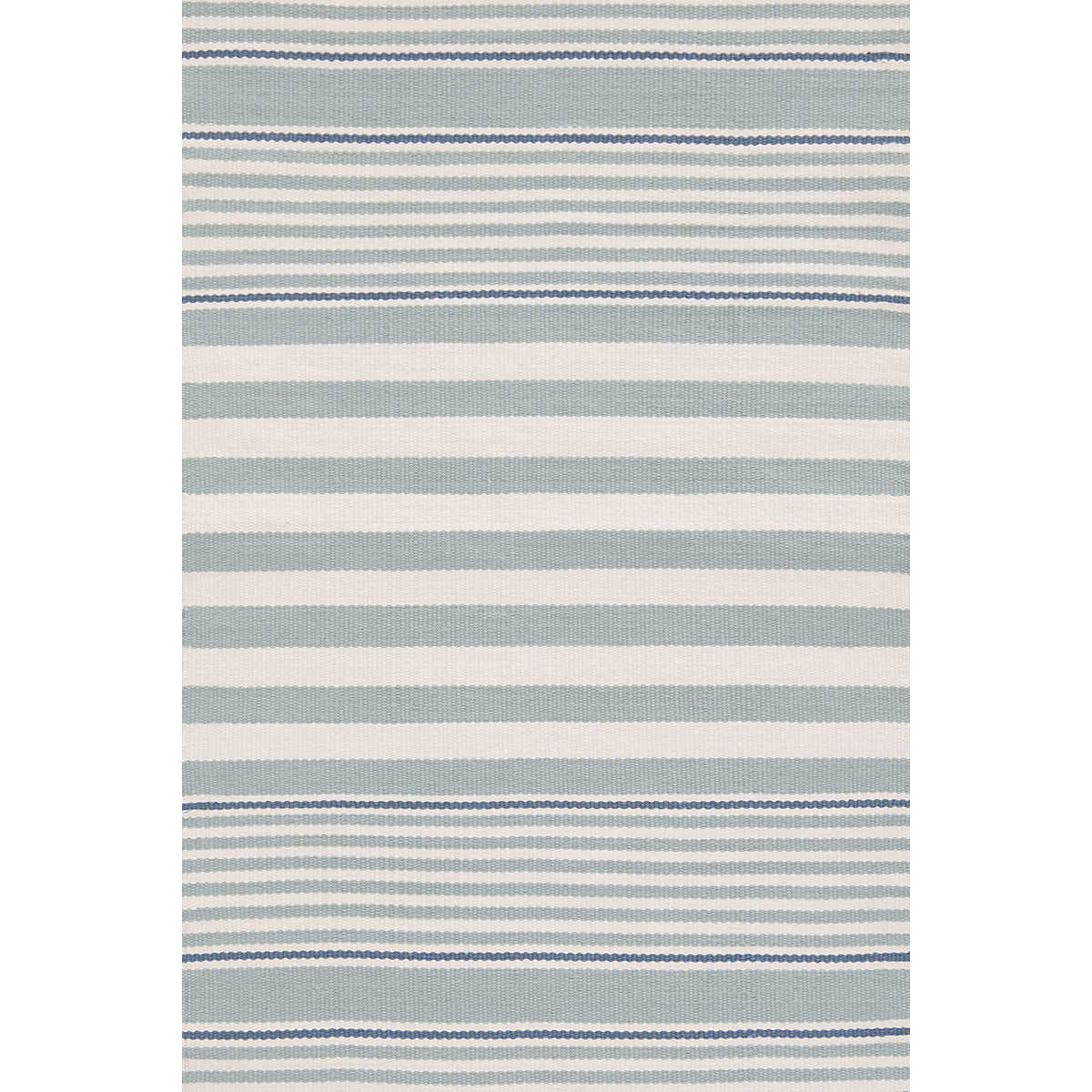 Beckham Stripe Light Blue Indoor/Outdoor Rug | Dash & Albert